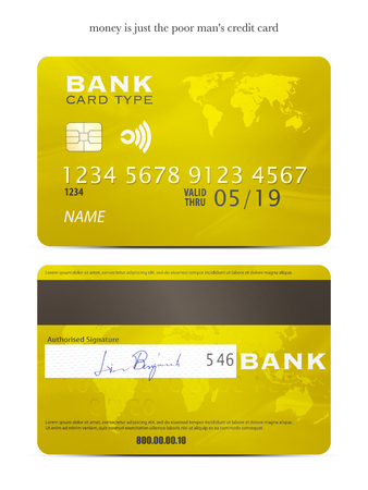 fictitious: set of realistic credit card icons isolated on white background. vector business objects design. bank international cards template. vector plastic card with fictitious signature