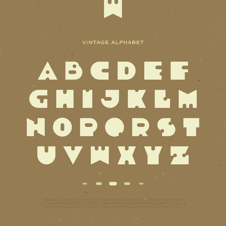 daring: set of stylized, alphabet letters isolated on brown background. Illustration