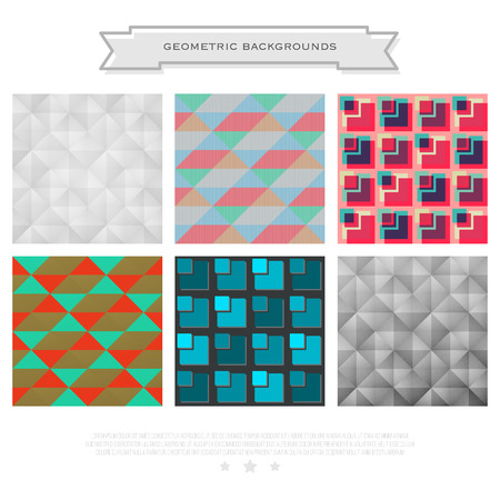 decorative patterns: set of abstract backgrounds with geometric, colorful ornament. vector seamless pattern design. decorative, textured wallpapers collection. fashion print template