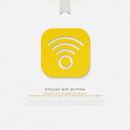radio wave: application button style wireless icon and wifi . isolated radio wave symbol. free internet connection zone sign. technology concept template