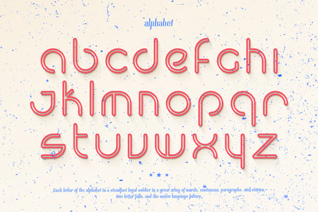 typesetting: set of stylish, thin line alphabet letters over messy paper background. vector contemporary, light font type. premium quality, modern character design. decorative typesetting template