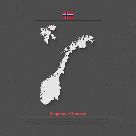 norwegian flag: Kingdom of Norway isolated map and official flag icons. vector Norwegian political map 3d illustration. Scandinavian Country geographic banner template. travel and business concept maps