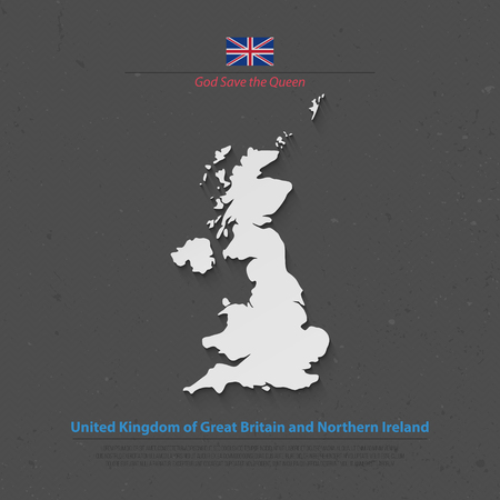 northern ireland: United Kingdom of Great Britain and Northern Ireland map and official flag icons. vector British political map 3d illustration. EU geographic banner template. business concept maps