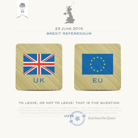 withdrawal: United Kingdom withdrawal from the European Union banner template. vector EU and British flags icons over paper texture. public referendum announcement and political crisis concept. vector UK map