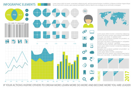 infographic elements, internet technology icons. vector time line diagram, arrow symbol. pie chart info graphic tools. financial statistic and marketing report presentation banners template
