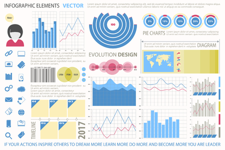 pie chart icon: info graphic elements, web technology icons. vector time line diagram, arrow symbol. world map, pie chart icon. financial statistic and marketing report presentation. business banner design