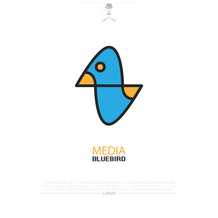 abstract, colorful bird icon isolated on white background. vector duck design. wild, funny pigeon character. popular, stylized sparrow sign. cute, exotic birds symbol, birdie logotype