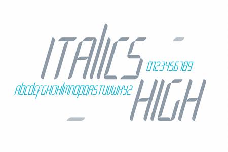 Un Conjunto De Letras Del Alfabeto Aislados Elegantes Y Numeros