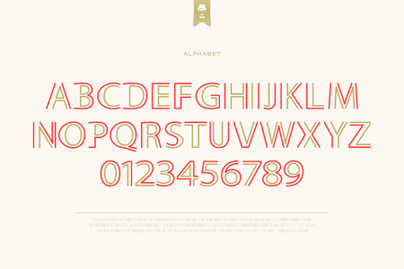 typesetting: classical style alphabet letters and numbers. vector font type design. retro lettering symbol. vintage, decorative typesetting. old typeface template Illustration