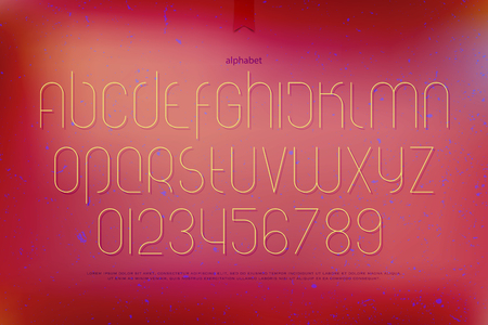 typesetting: modern alphabet letters and numbers. vector font type design. thin line lettering icons. contemporary, high typesetting. light typeface template