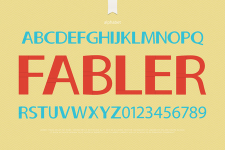 typesetting: origami style alphabet letters and numbers over paper texture. vector font type design. bold lettering. comic book typesetting. folded paper typeface template