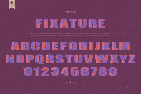typesetting: industrial style alphabet letters and numbers. font type design. round outline lettering icons. bold typesetting. regular typeface template