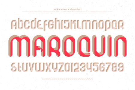 양식에 일치시키는 알파벳 문자와 흰색 배경에 숫자의 집합 벡터, 일반 글꼴 유형