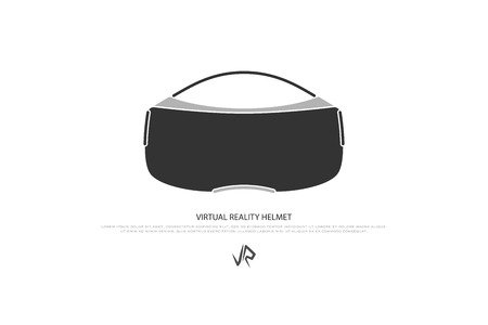 new isolated icon of virtual reality helmet. vector device logotype. 3d visor, technology gadget. stereoscopic vision simulator logo. innovation concept sign