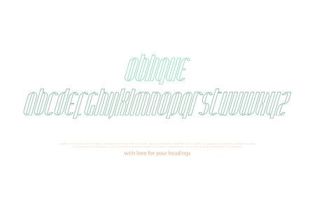 Italic, stylized alphabet letters
