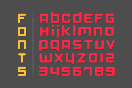 세련 된 알파벳 문자와 숫자입니다. 벡터 글꼴 유형 디자인입니다. 현대 레터링 기호. 추상, 일반 조판.