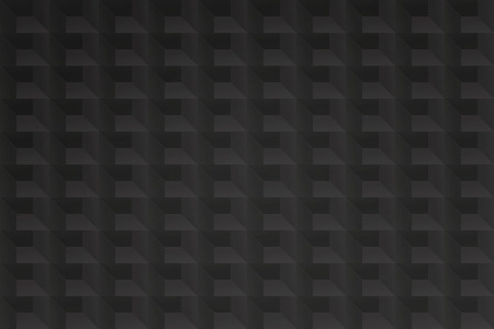 Nahtlose Muster mit geometrischen Struktur. Vektor, schwarzer Gitterhintergrund. abstrakter Gitter Tapetendesign. moderne, 3d-Effekt-Gitter-Kulisse Standard-Bild - 89261109