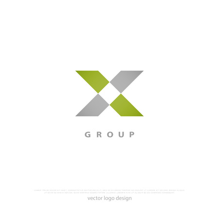 minimalist cross icon. vector, 10 logo design, corporate identity. abstract X symbol, creative logotype. number ten geometric sign Çizim