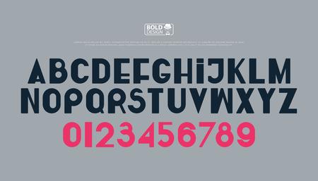세련 된 알파벳 문자와 숫자입니다. 벡터, 굵게 글꼴 유형. 일반, 액센트가있는 서체 디자인. 현대식, 양식화 된 조판 일러스트