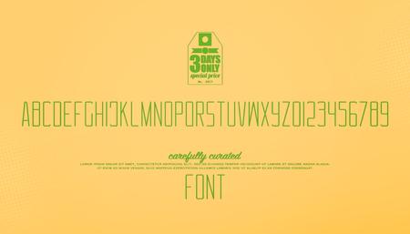 최소한의 스타일 알파벳 문자와 숫자. 벡터 글꼴 유형 디자인입니다. 얇은 줄 글자 기호. 양식 높은, 높은 조판. 훌륭한 서체 템플릿