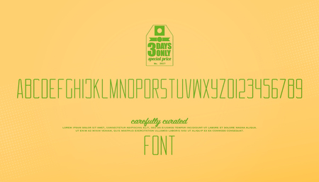 minimalist style alphabet letters and numbers. vector font type design. thin line lettering symbols. stylized, high typesetting. fine typeface template
