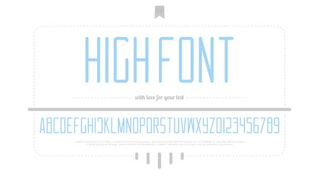 알파벳 문자와 숫자 스타일 디자인입니다. 일러스트
