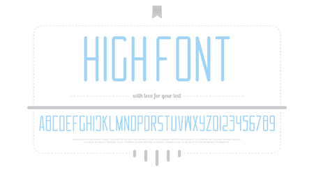Alphabet letters and numbers style design.