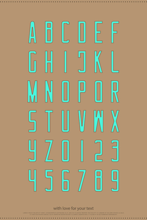 Alphabet letters and numbers. vector font type design. contemporary lettering symbols. medium outline typesetting. contour typeface template 일러스트