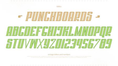 이탤릭체 알파벳 문자와 숫자. 벡터, 굵게 글꼴 유형 디자인. 기울어 진 문자 기호. 양식, 경사 조판. 경사 서체 템플릿