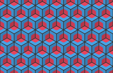 seamless pattern with blockchain colorful shapes ornament. vector abstract wallpaper. Standard-Bild - 95145281