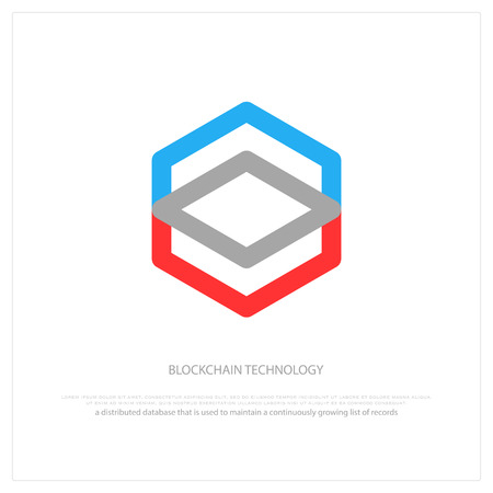 blockchain technology, honeycomb icon. vector smart contract block isolated sign. Çizim