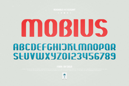 Urban style alphabet letters and numbers. vector, readable font type design.