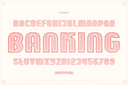 Bank note style alphabet letters and numbers. vector, money font type design. 向量圖像