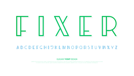 Regular alphabet letters. vector font type design. modern lettering symbols. cool, display typesetting. thin line typeface template.