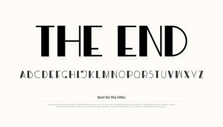 regular alphabet letters. vector font type design. vintage lettering symbols. trendy, display typesetting. uppercase typeface template