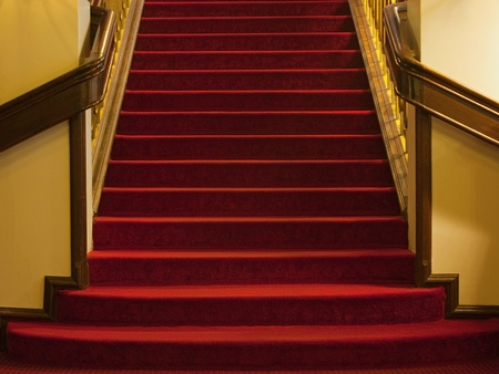 Steps with red carpet from an old mansion, hotel, theater or opera house. Stock Photo - 9796779