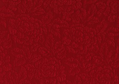 花レリーフ パターンの赤い絹の素材です。