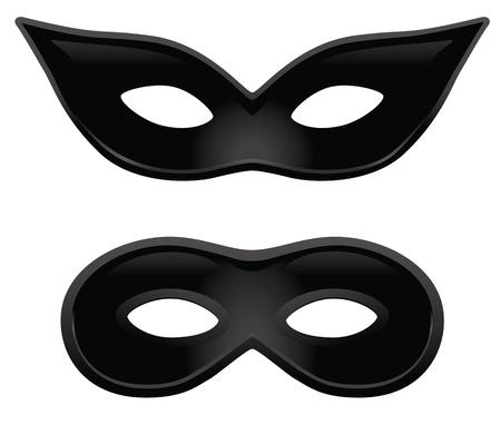 carnaval masker: Een paar zwarte maskers voor gemaskerd bal kostuums of andere gelegenheden.