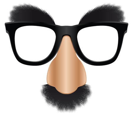 A version of the classic disguise mask easily added on to a face. Stock Vector - 10746442