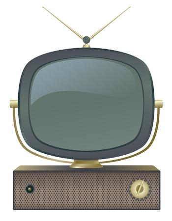 A classic retro television set. Vector