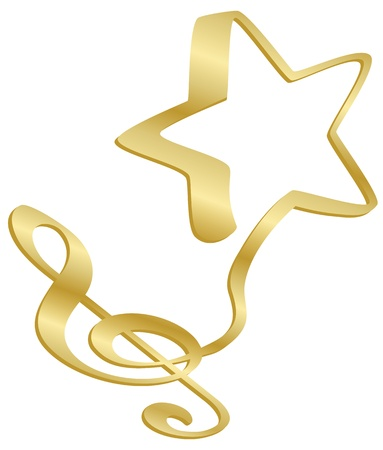 star logo: A musical G or treble clef flows into a star.