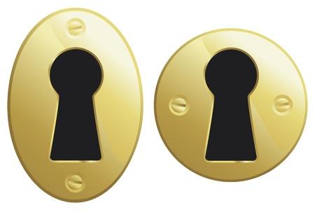 真鍮鍵穴の楕円形や円形のバージョン。