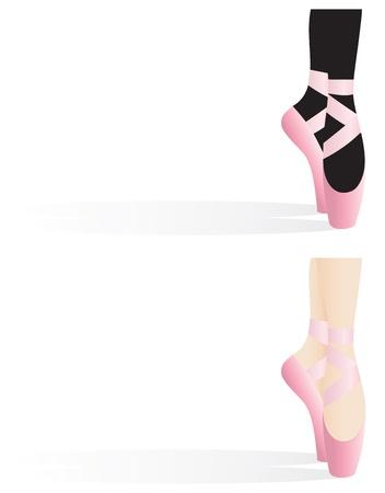 danza clasica: Detalle de la bailarina con zapatillas de ballet, proyectando una sombra con el espacio para el texto.