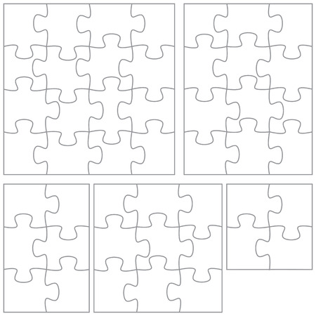 A selection of jigsaw puzzle templates.