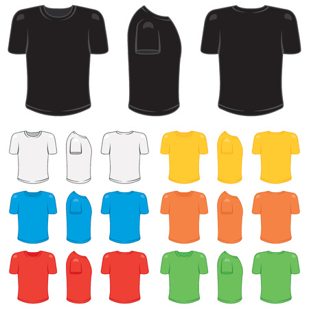 Graphic male t-shirt in a variety of basic colors.