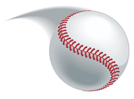 Toonhoogte honkbal, hit of gooi het verlaten van een wazig pad.