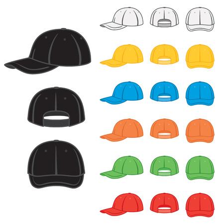 Grafische baseball cap in diverse basiskleuren