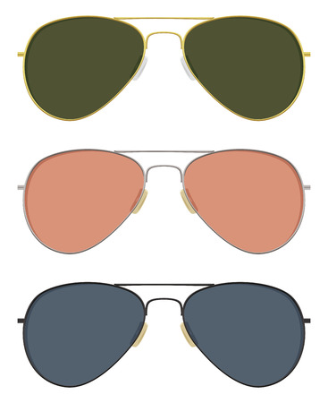 aviator: Classic aviator sunglasses in basic solid colors.