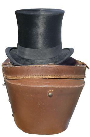 cilinder: Old Cilindro cappello di seta nera