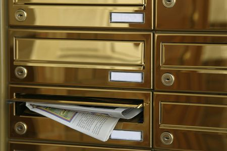 Direct mail. Mail boxes photo